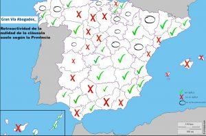 Retroactividad cláusula suelo por provincias